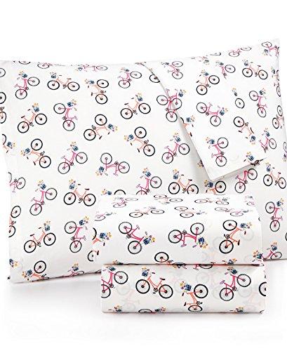 Martha Stewart Whim Collection 100 Cotton Sheet Set Size Twin Bike Lane