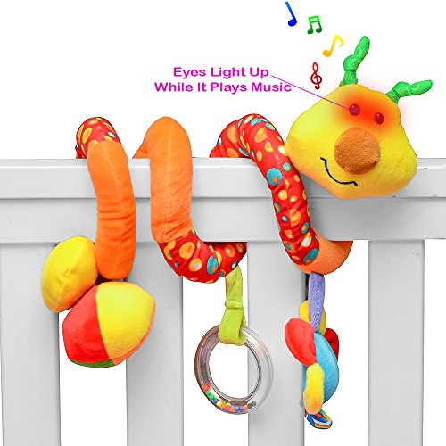 3 6 Month Musical Toys For Baby : Playboom giraffe baby crib toy with light music wraps