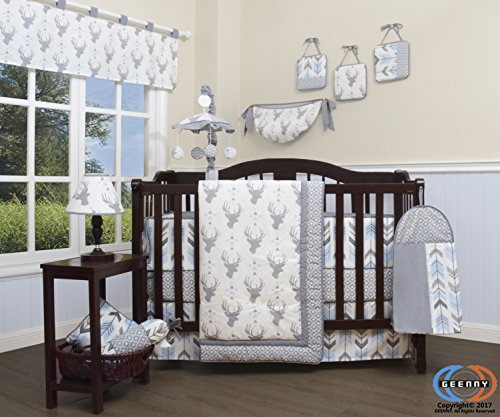 GEENNY 13 Piece Boutique Baby Nursery Crib Bedding Set ...