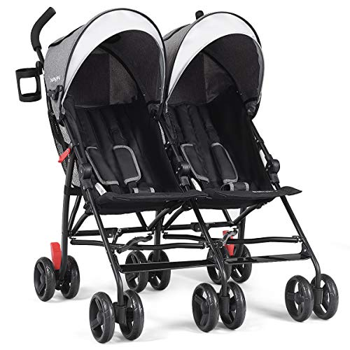 Baby Joy Double Light-Weight Stroller, Travel Foldable ...